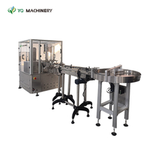Box Machine for Bottle with Turntable And Conveyor Belt